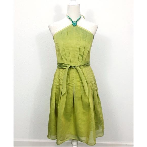 Kay Unger Dresses & Skirts - Kay Unger Green Beaded Halter Dress Size 6